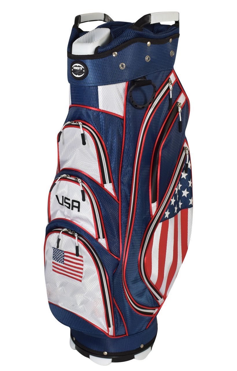 Hot-Z Golf USA Flag Bag - Hot-Z Golf 2018 Flag Stand Bag