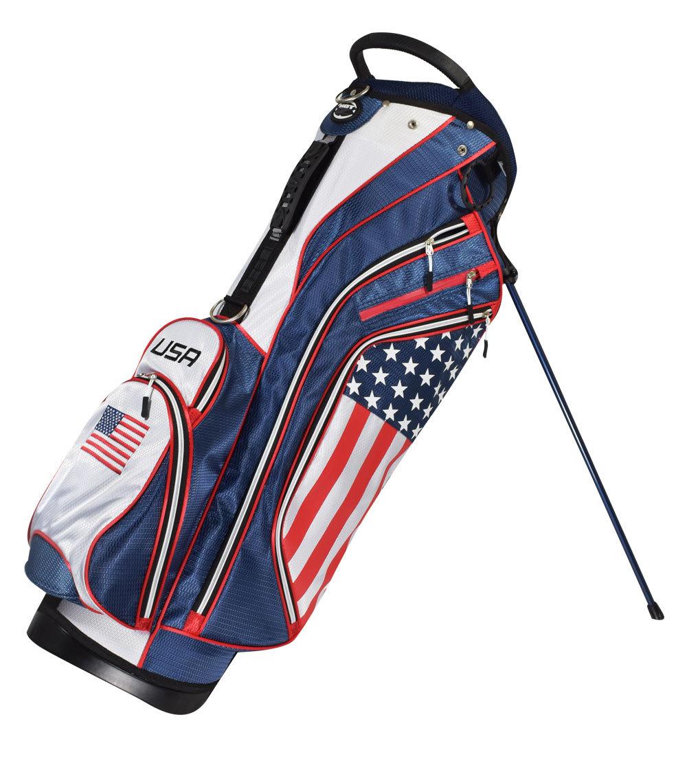 Hot-Z Golf USA Flag Bag - Hot-Z Golf 2018 Flag Stand Bag