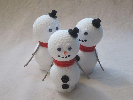 Golf Ball Snowmen