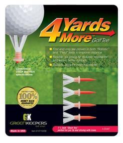 4 Yards More Golf- Plastic Golf Tees