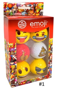 Emoji Golf Balls 6-Ball Pack