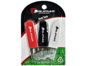 Orlimar Golf- Divot Tool 3 Pack Red/Black/White Stainless Steel