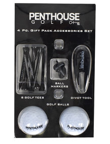 Penthouse Golf- 4 Piece Gift Pack Accessories Set