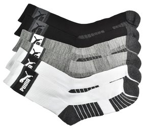 Puma 3-Pack 1/2 Terry Crew Socks