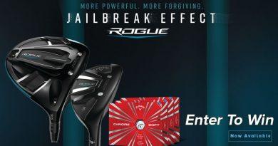 Enter to WIN a FREE 2018 Callaway Rogue Driver, Rogue Hybrid, OR 3 Dozen Chrome Soft Golf Balls!