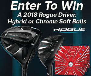 Enter to WIN a FREE 2018 Callaway Rogue Driver, Rogue Hybrid