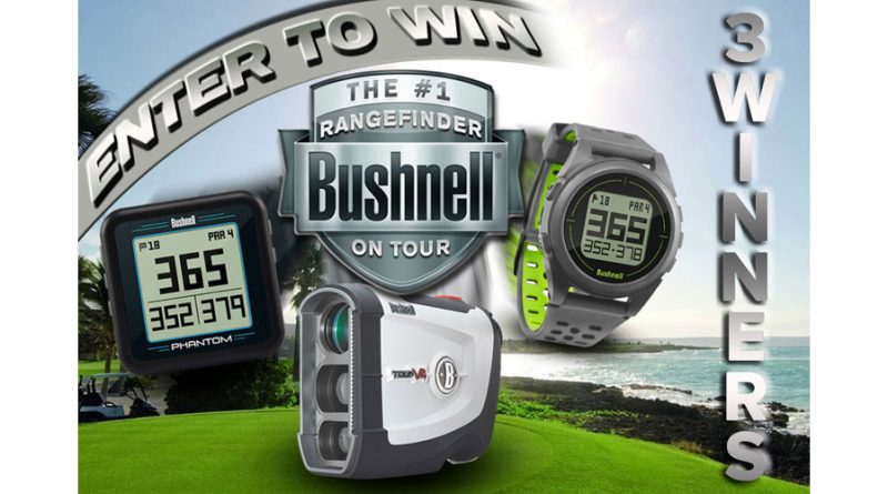 win a free bushnell range finder banner