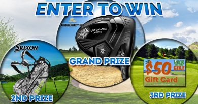 Cobra F8 Driver, Srixon Z-Four Camo Stand Bag giveaway contest banner
