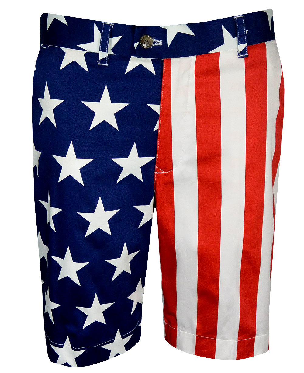 Loudmouth Golf- Stars & Stripes StretchTech Fabric Shorts