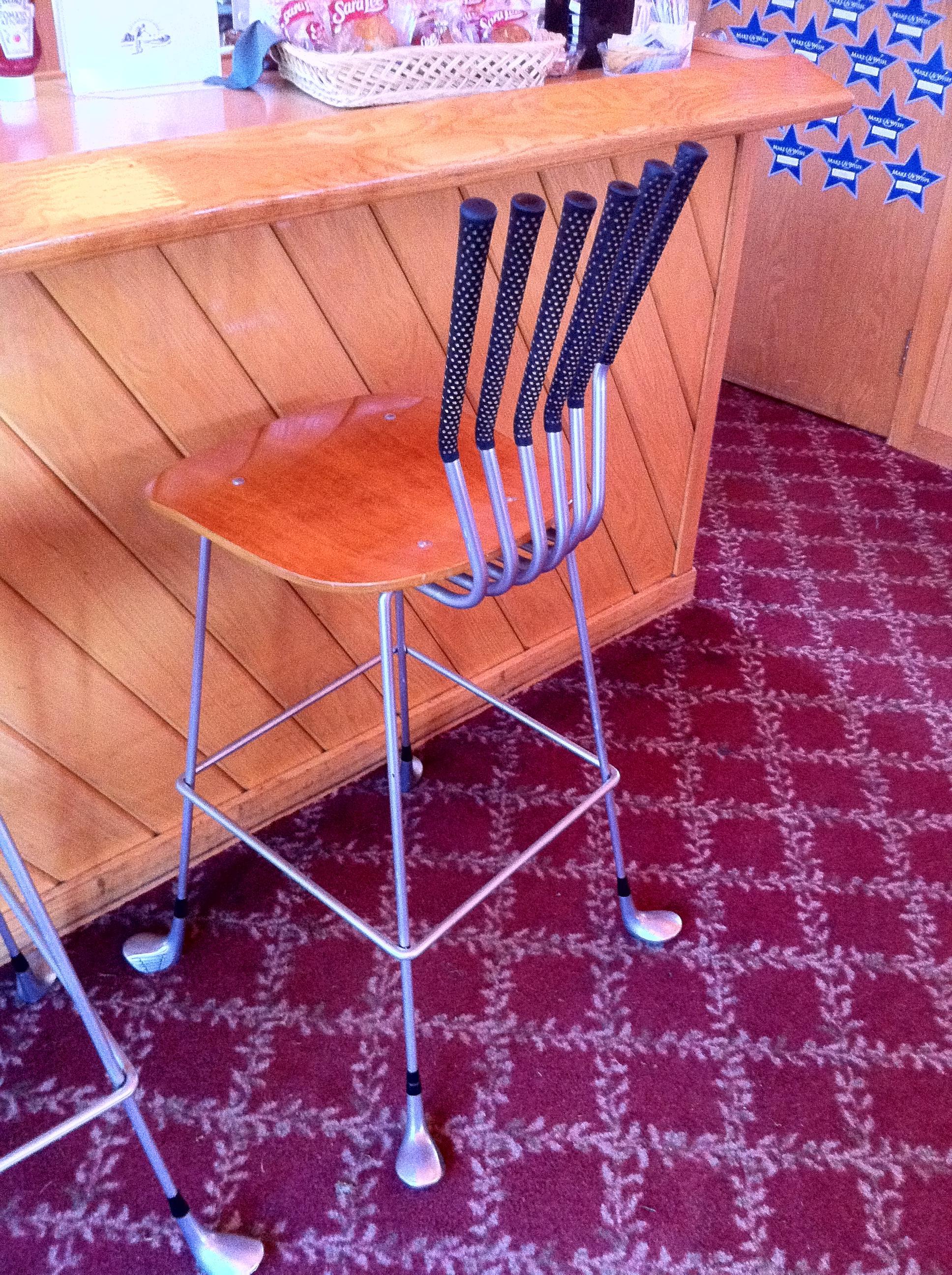 golf club bar chair