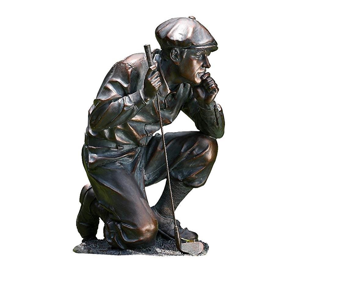 kneeling golf figure