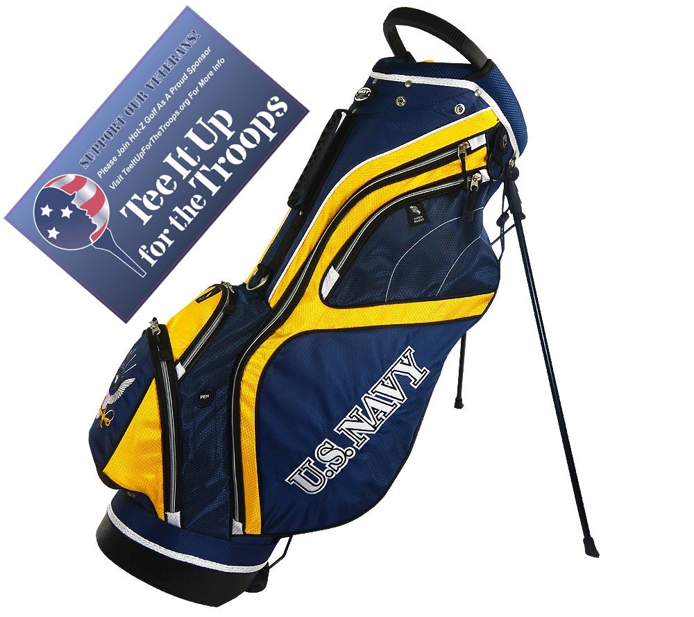 Navy - US Military Stand Bag - Hot-Z Military Golf Bags