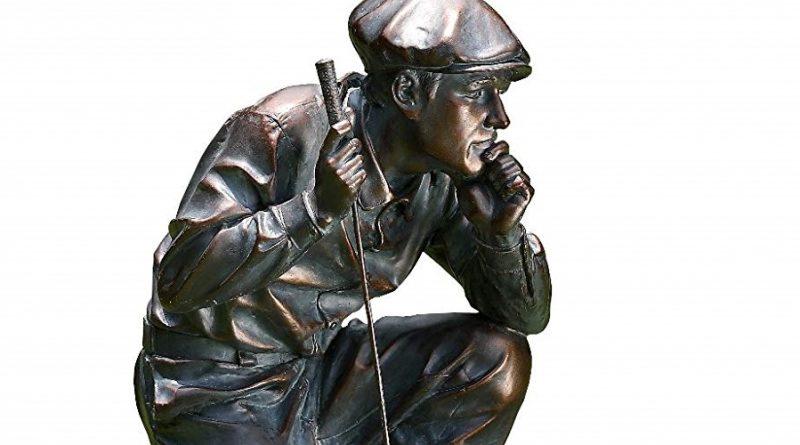 kneeling golf figure feature image