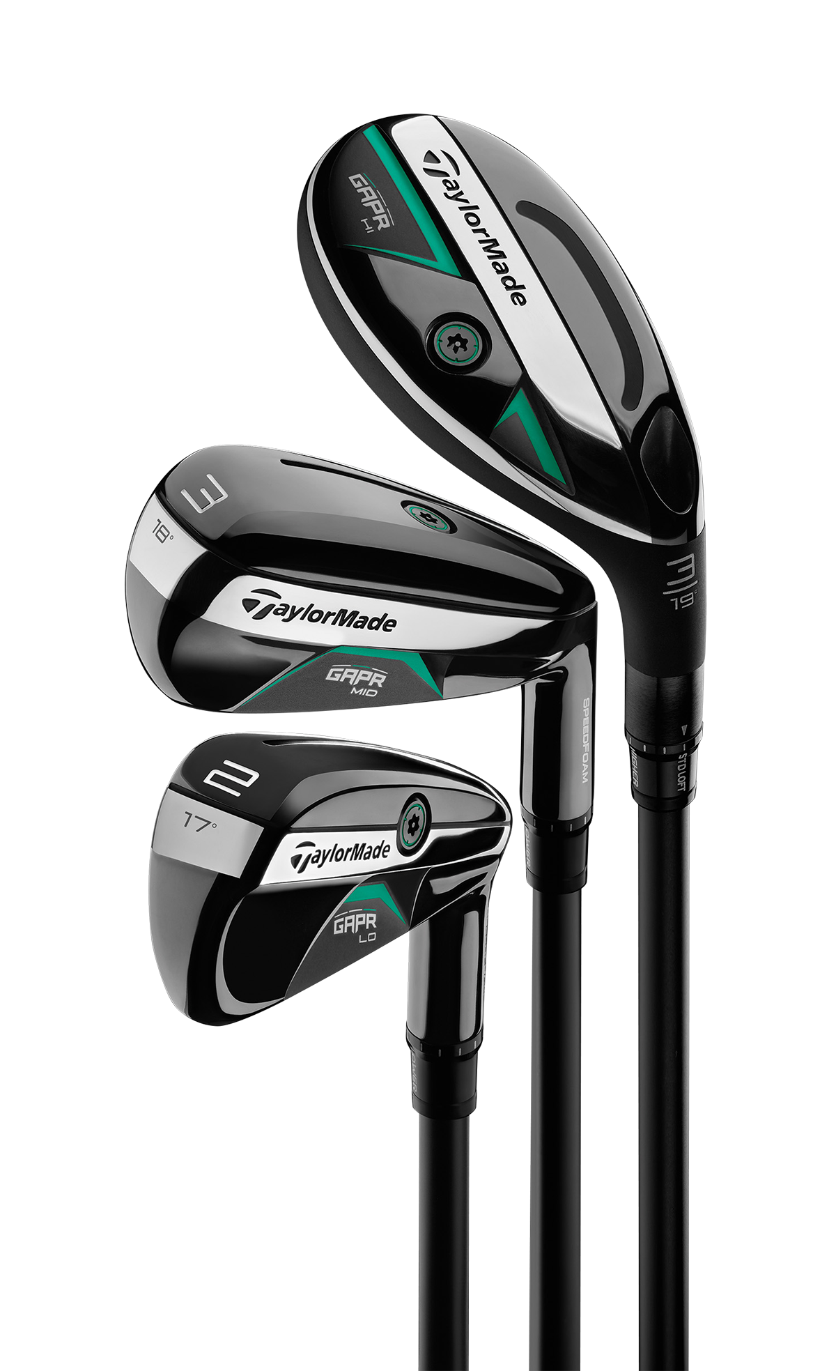 TaylorMade GAPR Hybrids - group of all three clubs