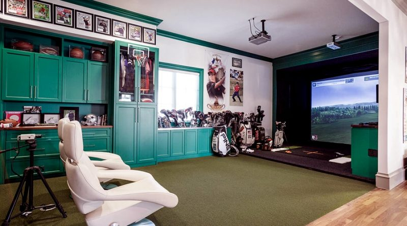 feature image - golf inspired man caves