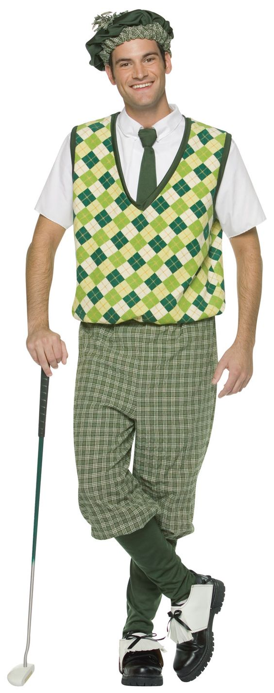 An adult version of the same costume - 2018 Golf Halloween Costumes