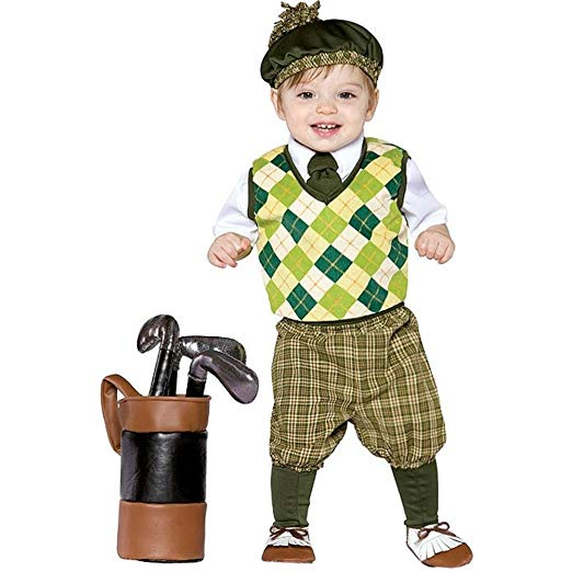 kid's Halloween Golfer Costume - 2018 Golf Halloween Costumes