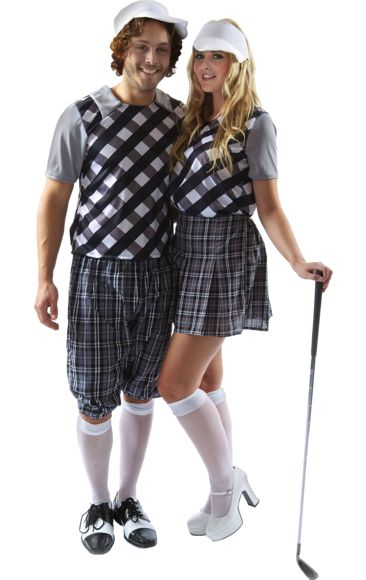 golfing couple halloween costume