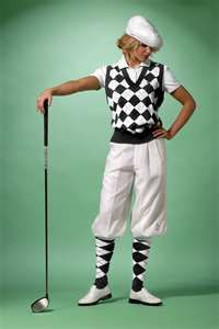 Womens black and white golf outfit