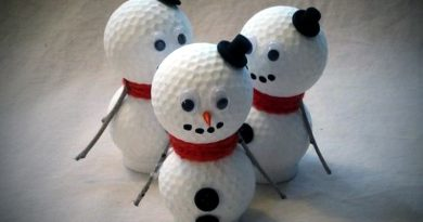 Golf Ball Snowmen