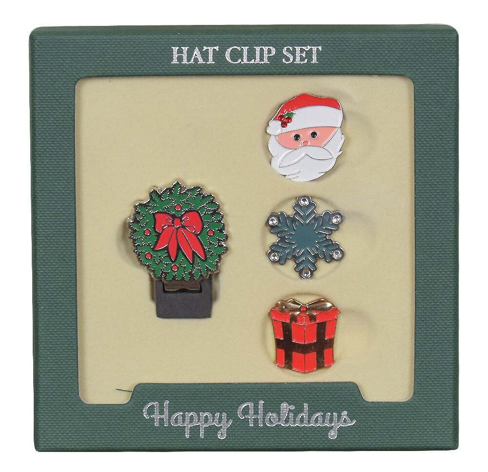 Ahead Golf- Holiday Crystal Hat Clip/Ball Marker Set