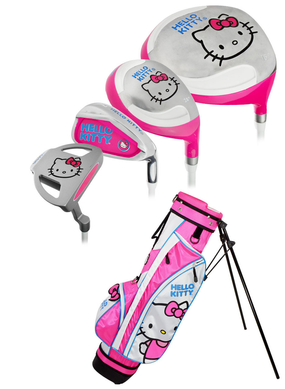 Hello Kitty Golf Junior 9-Piece Set W/Bag Ages 9-12