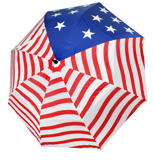 Jef World of Golf American Flag 62 Dual Canopy Umbrella