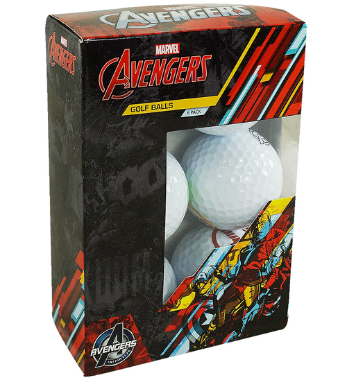 Marvel 6-Pack Golf Balls