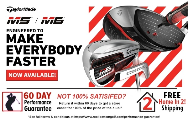 TaylorMade M5 & M6 promo banner