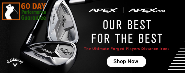 Apex and Apex Pro Irons product sales banner