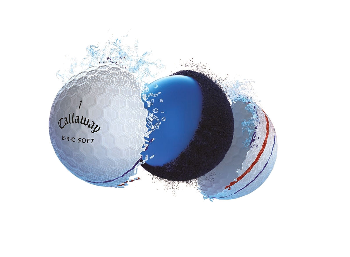 Callaway ERC Soft Golf Balls product tech image for feature section 2019