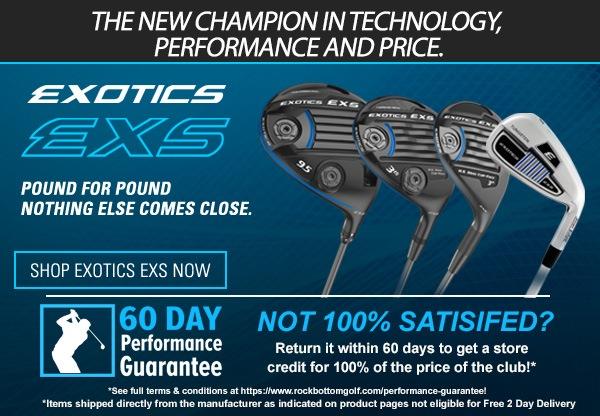 Tour Edge Exotics EXS driver product banner image
