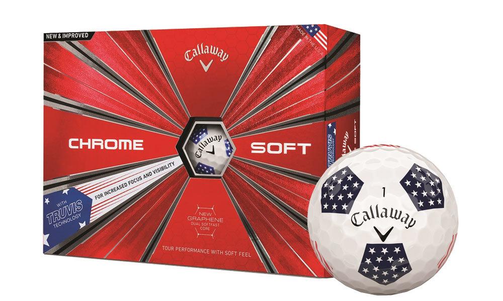 Callaway Chrome Soft Truvis Stars and Stripes Golf Balls