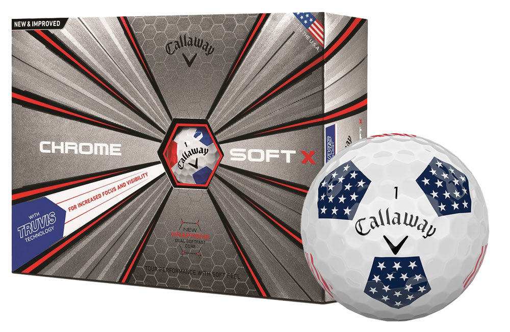 Callaway Chrome Soft X Truvis Stars and Stripes Golf Balls