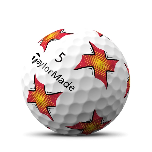 TaylorMade TP5 Pix zoomed in image of ball product image toe view image for feature section 2019