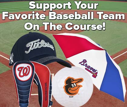 MLB Major League Baseball feature banner image - Visit RockBottomGolf.com for MLB Golf Gear and Equipment