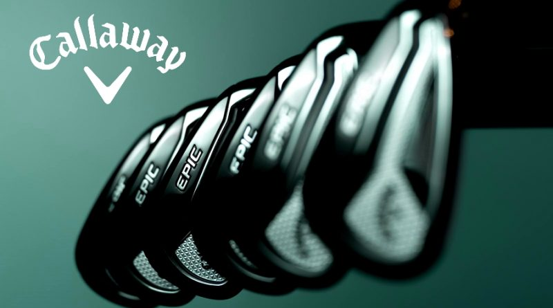 Callaway Epic forged irons hero image for header section with logo