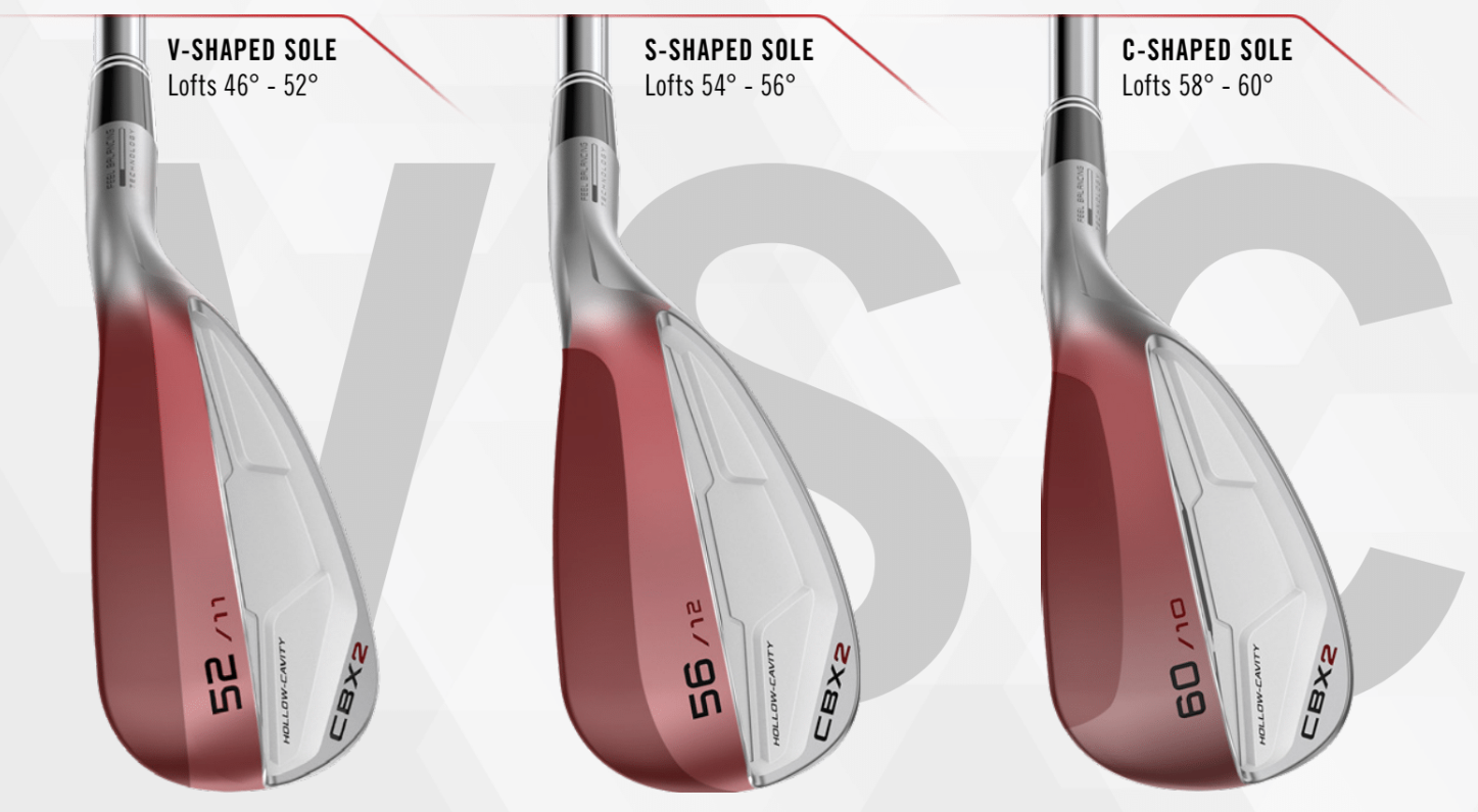 sole tech image - cleveland CBX 2 wedge