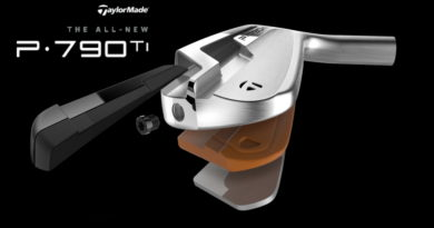 TaylorMade P790 Ti irons tech image for hero feature w logo