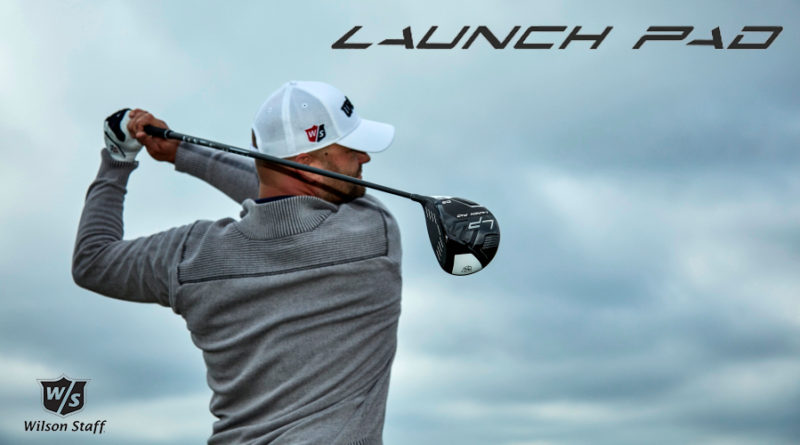 Wilson Staff Launch Pad Driver lifestyle image for feature image placement hero with logos