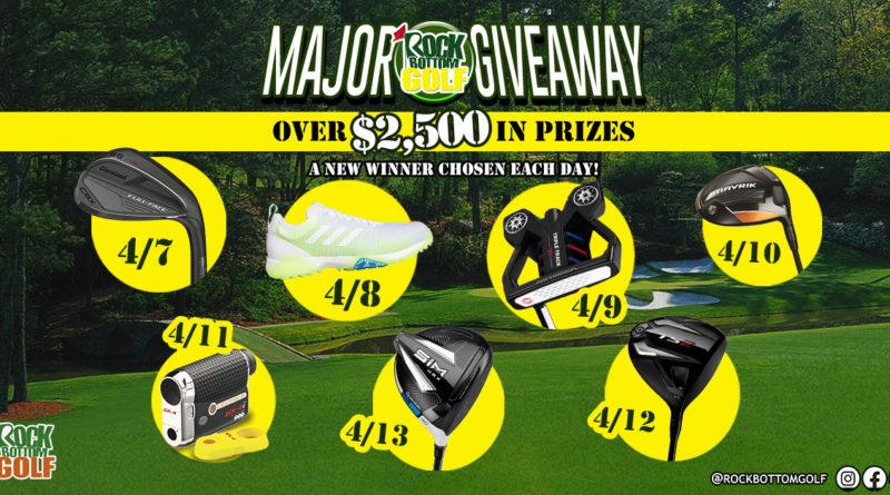 Enter Rock Bottom Golf's Major MEGA Giveaway!