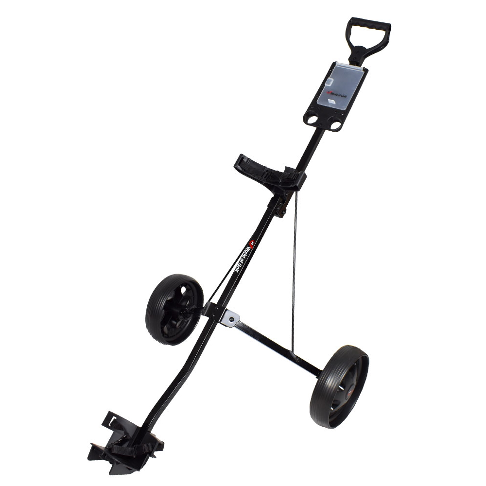 Jef World of Golf- Deluxe Steel Push Cart