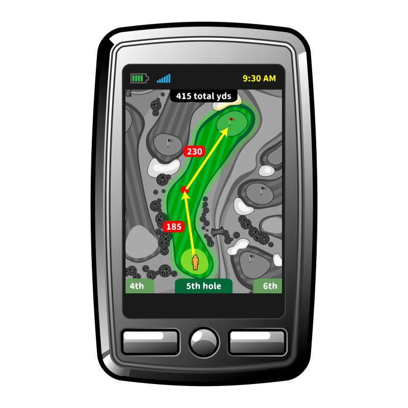 golf gps unit with screen