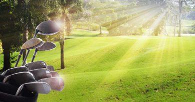 golf clubs in the sun