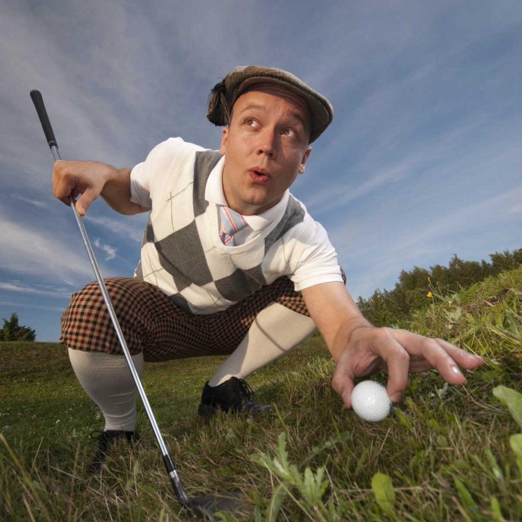 golfer in golf apparel
