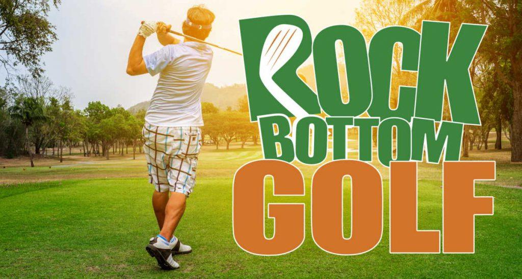 Rock Bottom Golf banner for shorts blog